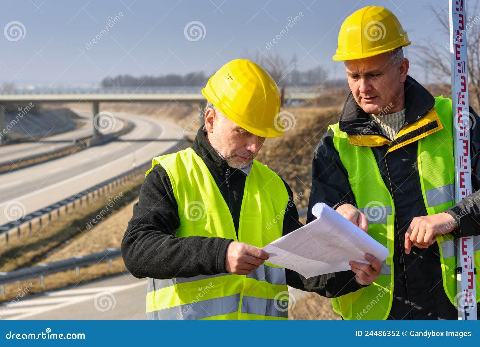 Geodesist read plans on construction site stock for How to read construction site plans