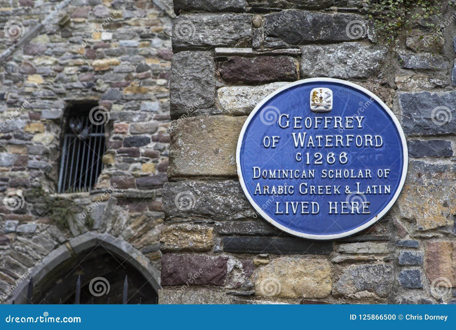 Geoffrey da chapa de Waterford em Waterford