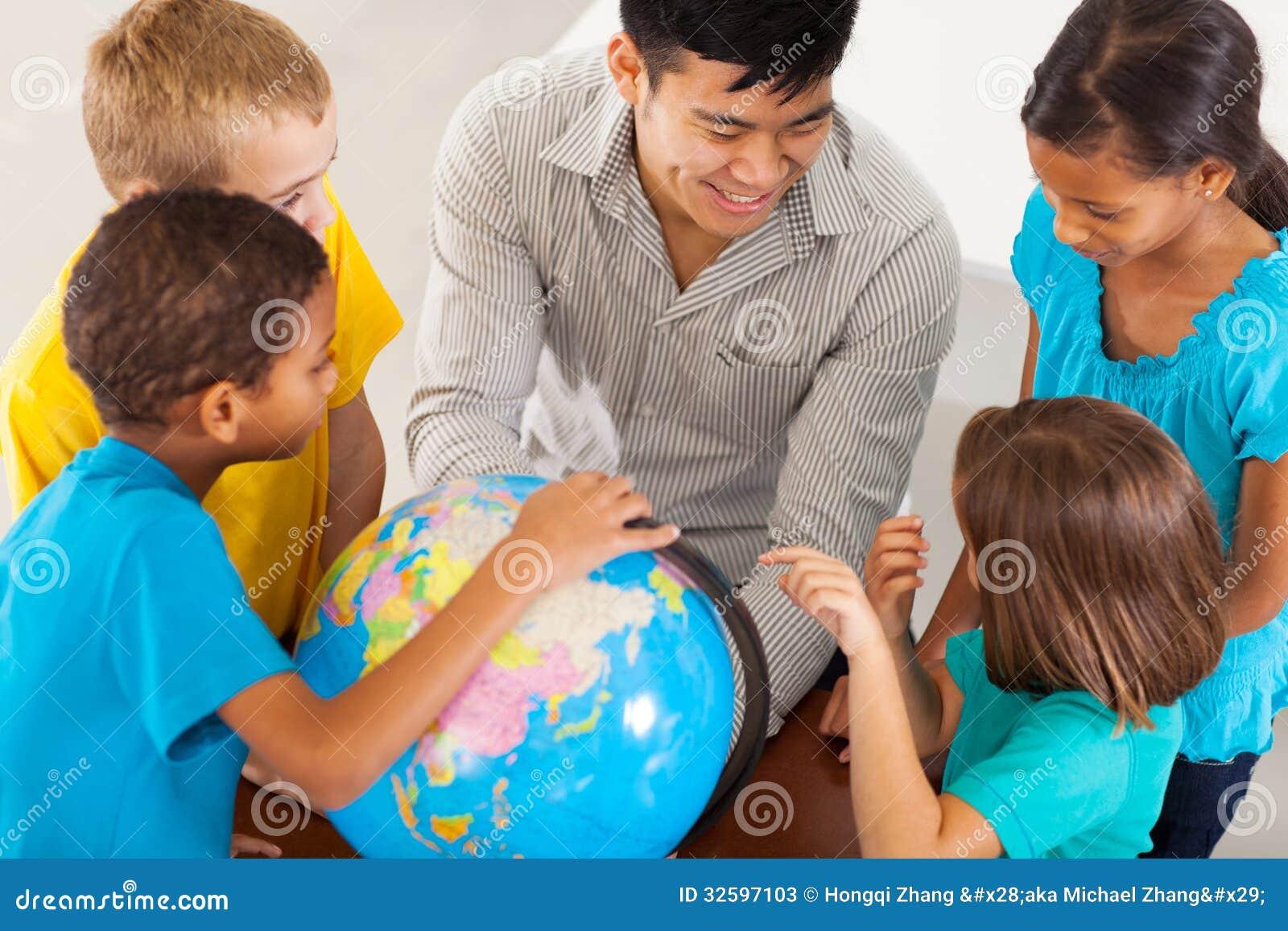 Geografia de ensino do professor