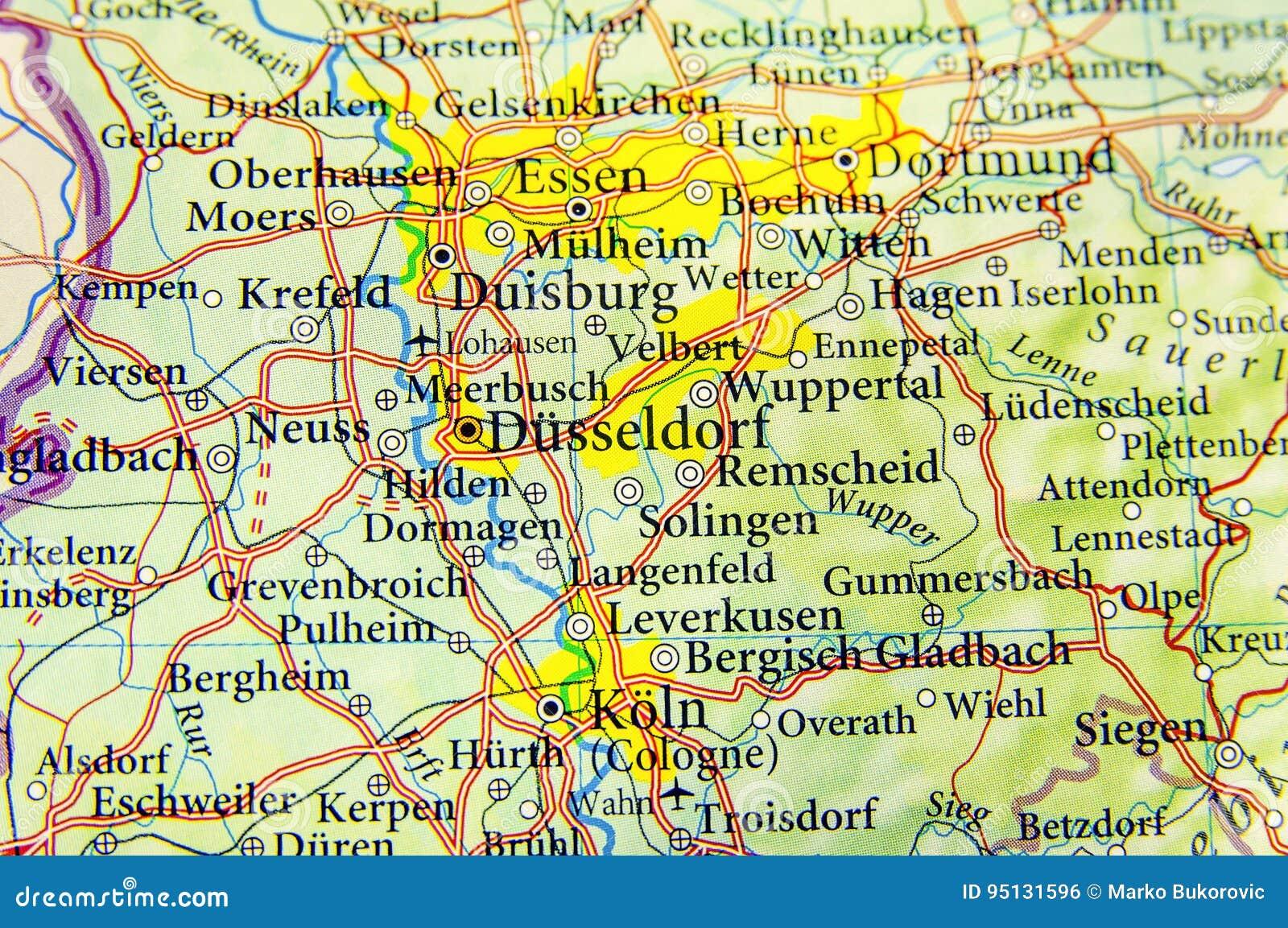 Geografische Kaart Van Europees Land Duitsland Met Belangrijke