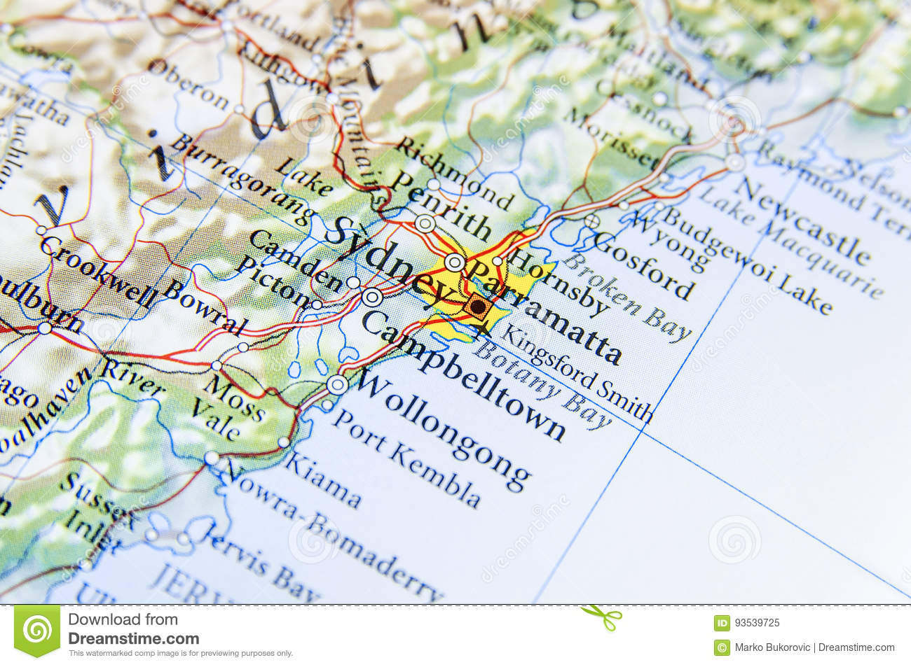 Geographic Map Of Australia With Sydney City Stock Image - Image of on new south wales australia map, perth australia map, grand pacific drive australia map, cronulla beach australia map, moruya australia map, north ryde australia map, avoca beach australia map, townsville australia map, perisher australia map, liverpool australia map, pokolbin australia map, port macquarie australia map, brisbane australia map, sydney australia map, canberra australia map, merimbula australia map, lake mungo australia map, sawtell australia map, hamilton australia map, wollongong australia map,