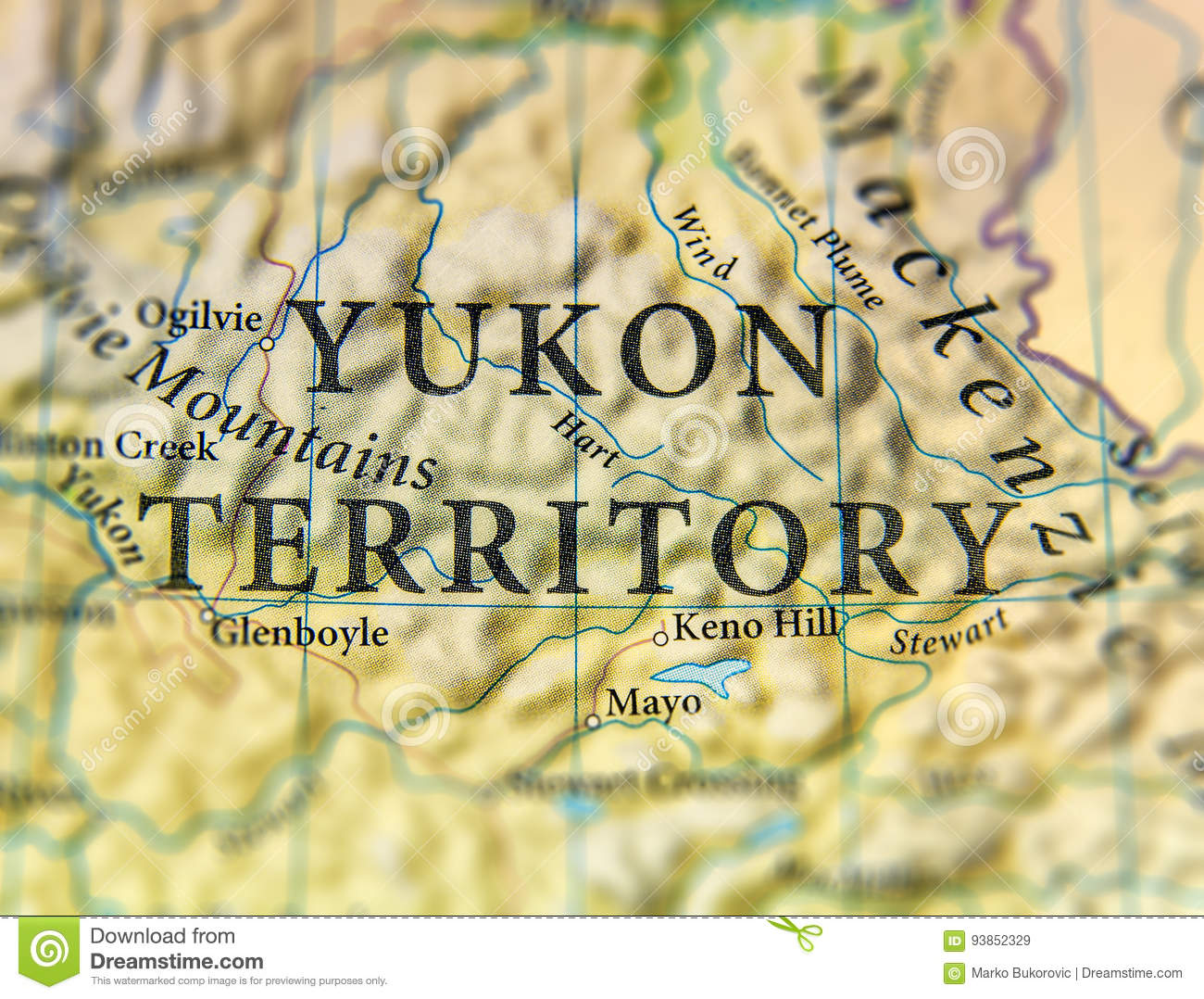 Map Of Canada With Cities And States.Geographic Map Of Canada State Yukon Territory With Important Cities