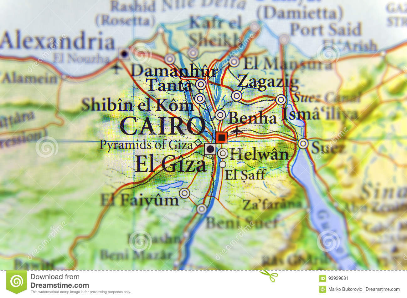 Geographic Map Of Egypt With Capital City Cairo Stock Image ... on pyramid mexico city map, pyramid egypt map, pyramid giza map,