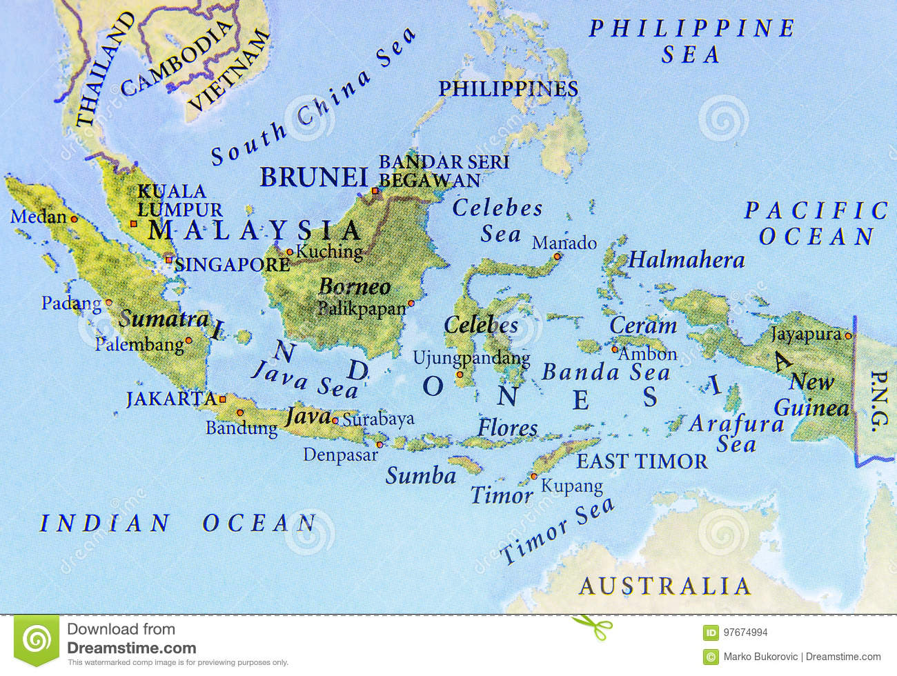 Geographic map of malaysia brunei and indonesia with important download comp gumiabroncs Choice Image