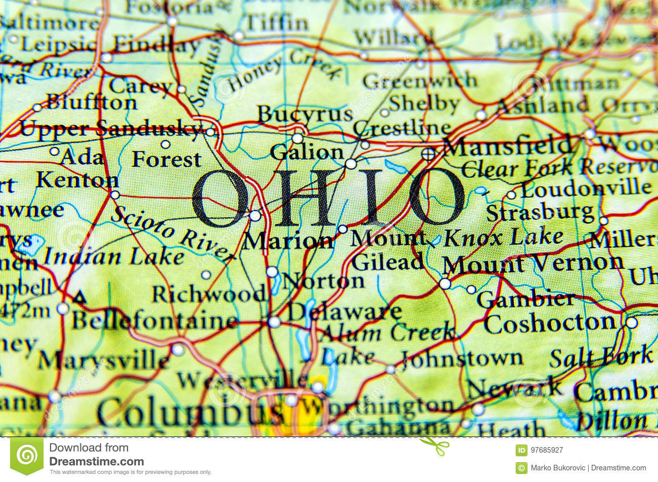 Image of: Map Of Ohio United Airlines And Travelling