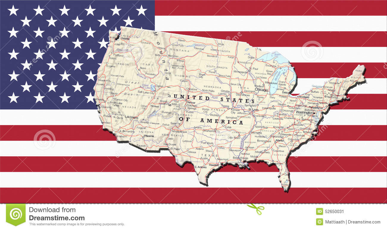Geographical Map On The Flag Of USA Stock Image - Image of ... on usa time map, michigan map, usa regions map, usa topographical map, usa military map, usa national map, usa culture map, usa map with rivers, usa digital elevation model, us physical map, united states map, usa relief map, usa map houston texas, usa historical map, usa language map, usa mountains map, usa administrative map, usa food map, usa geological map, usa transportation,