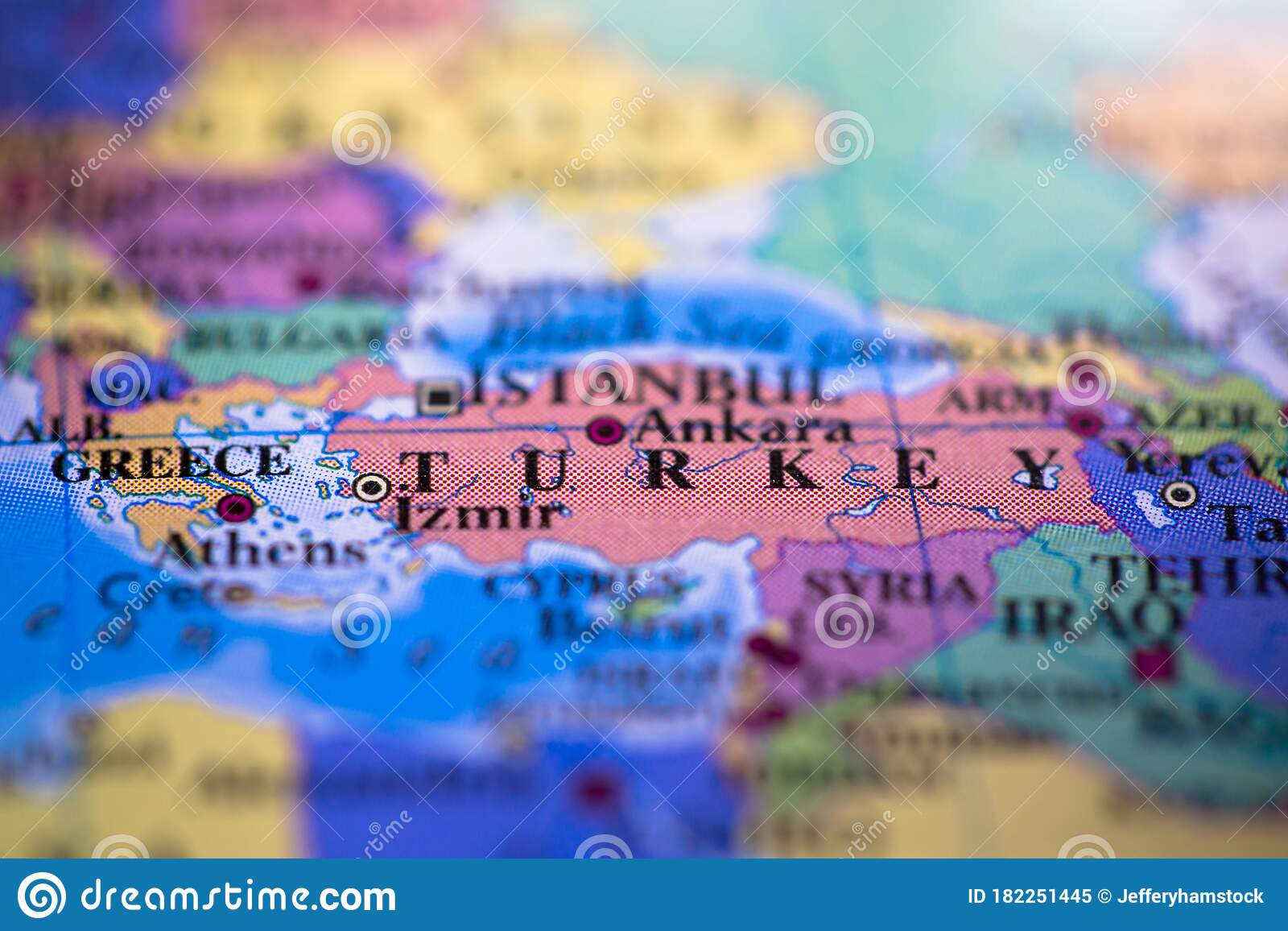 Picture of: Geographical Map Location Of Country Turkey In Asia Continent On Atlas Stock Image Image Of Europe Country 182251445