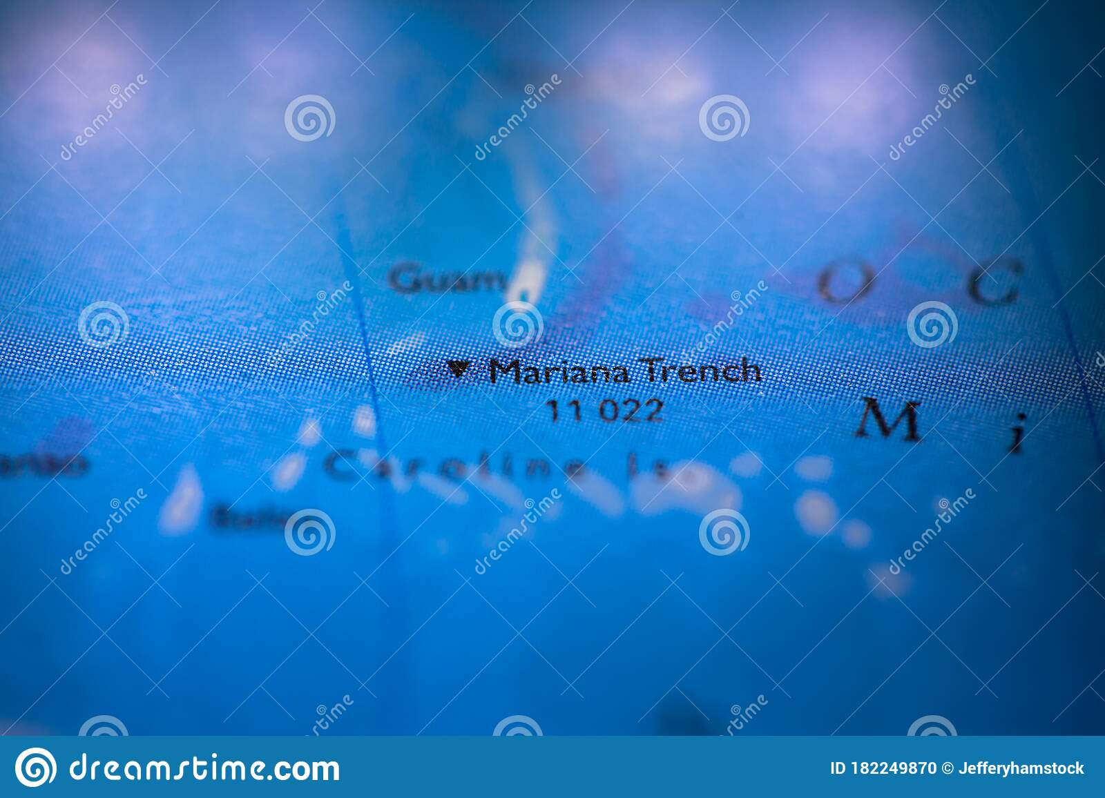 Picture of: Geographical Map Location Of Mariana Trench Off Coast Of Philippines Pacific Ocean On Atlas Stock Photo Image Of Mystery Everest 182249870