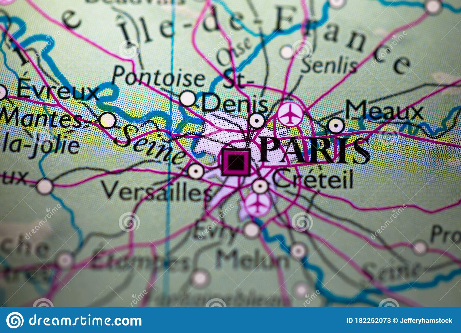 Picture of: Geographical Map Location Of Paris City In France Europe Continent On Atlas Stock Image Image Of Geography Geographic 182252073