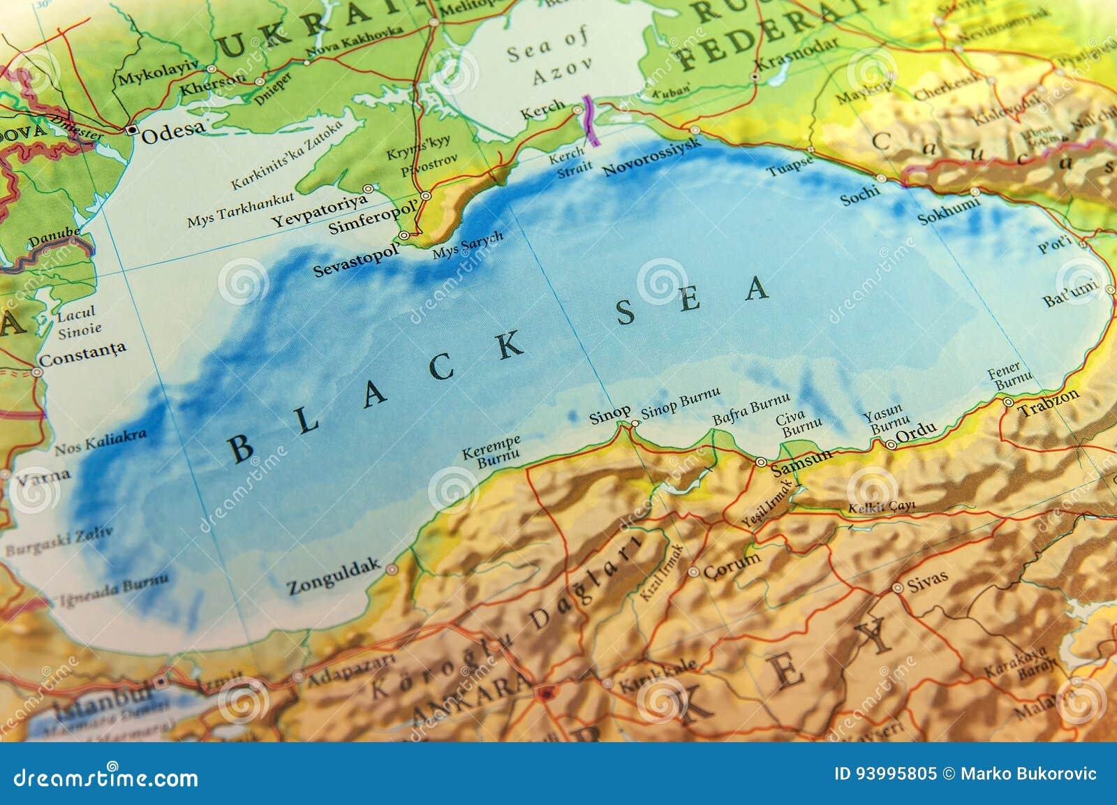Geographische Karte Des Europaers Schwarzes Meer Und Krim