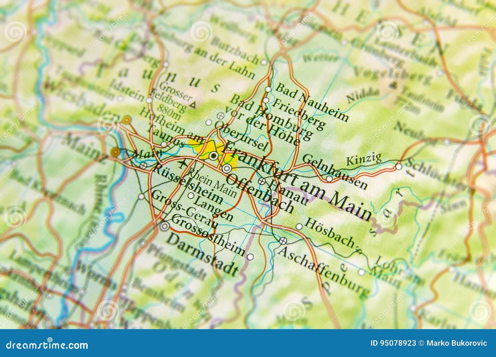 Frankfurt Karte Europa.Geographische Karte Des Europäischen Landes Deutschland Mit