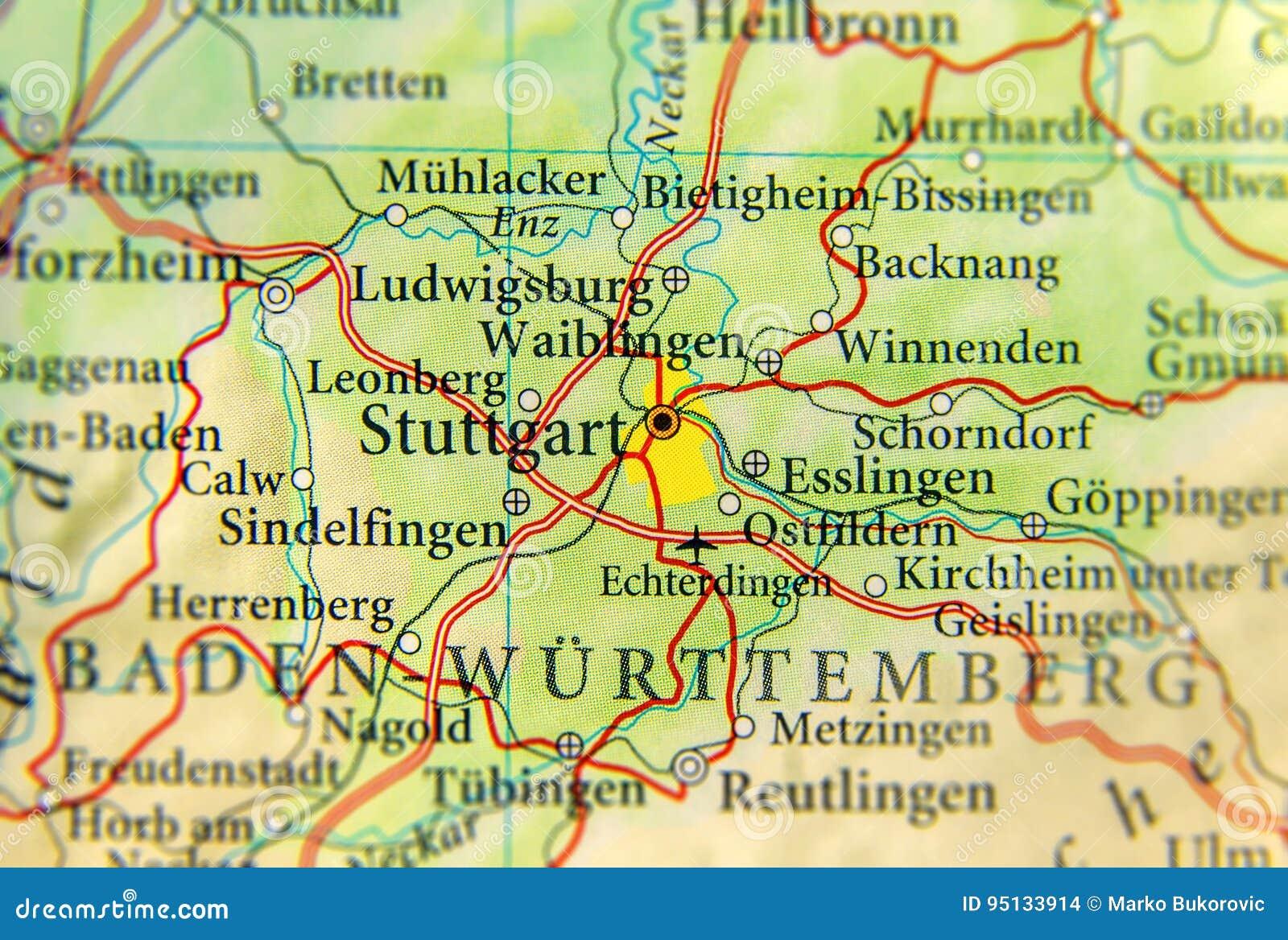 Geographische Karte Des Europaischen Landes Deutschland Mit