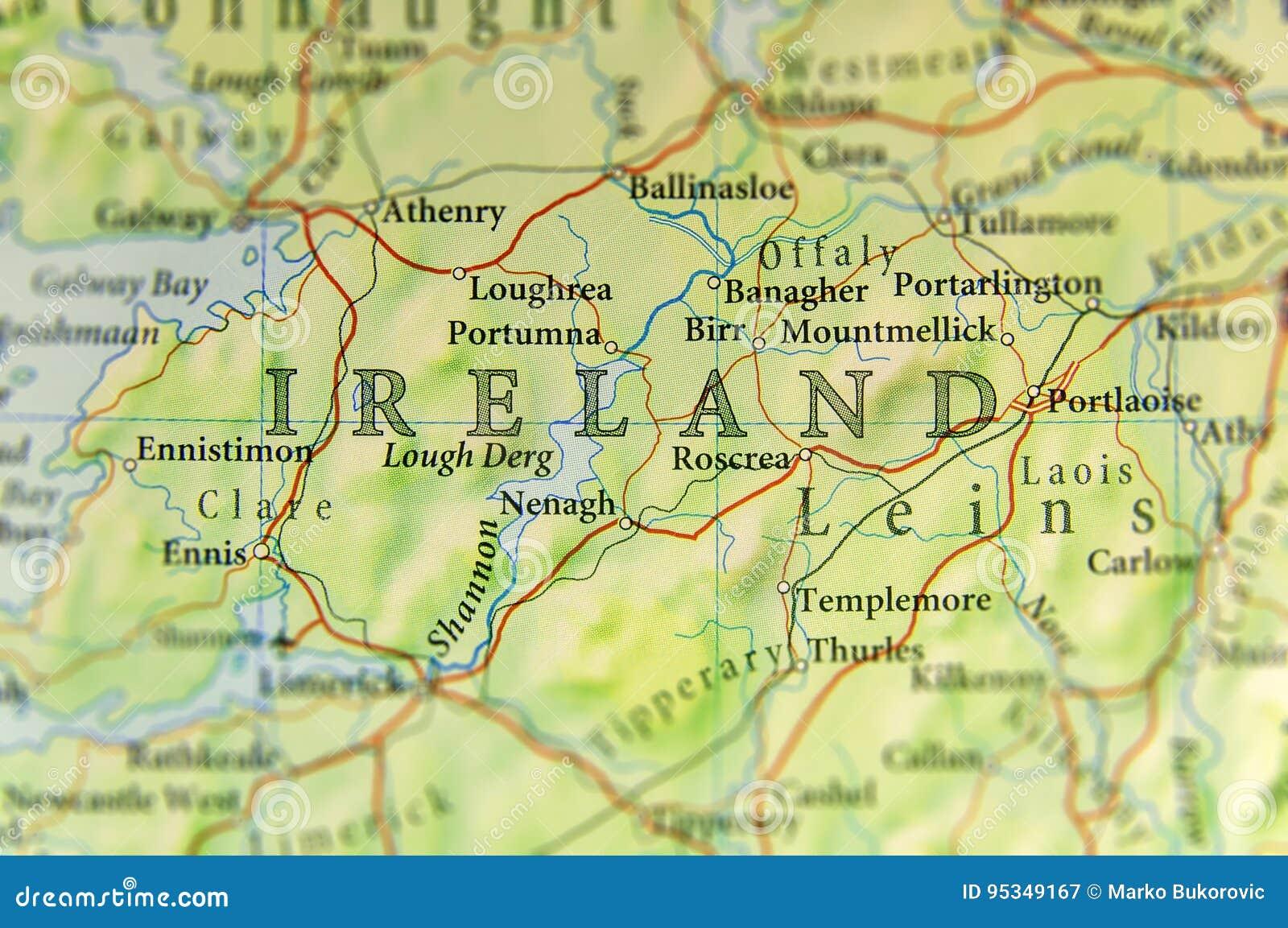 Irland Karte Städte.Geographische Karte Des Europäischen Landes Irland Mit Wichtigen