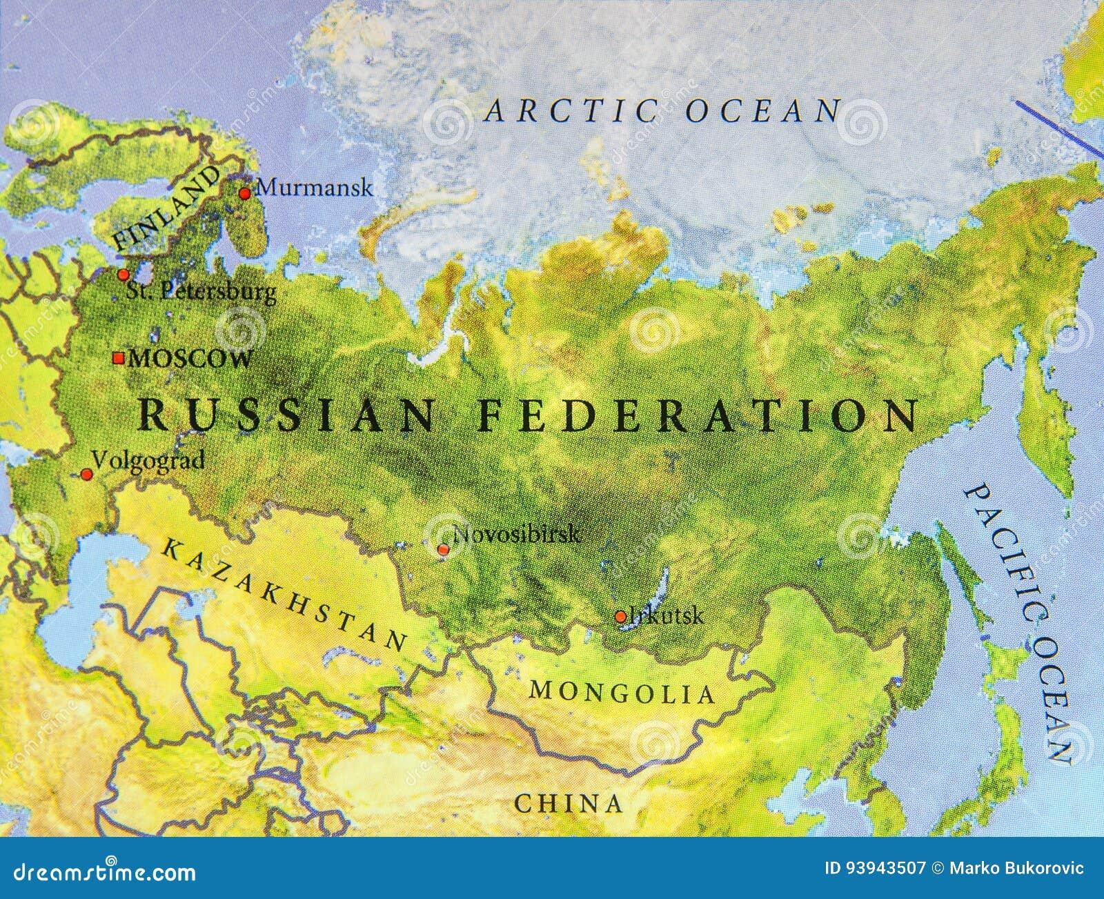 Geographische Karte Des Europaischen Und Asiatischen Landes