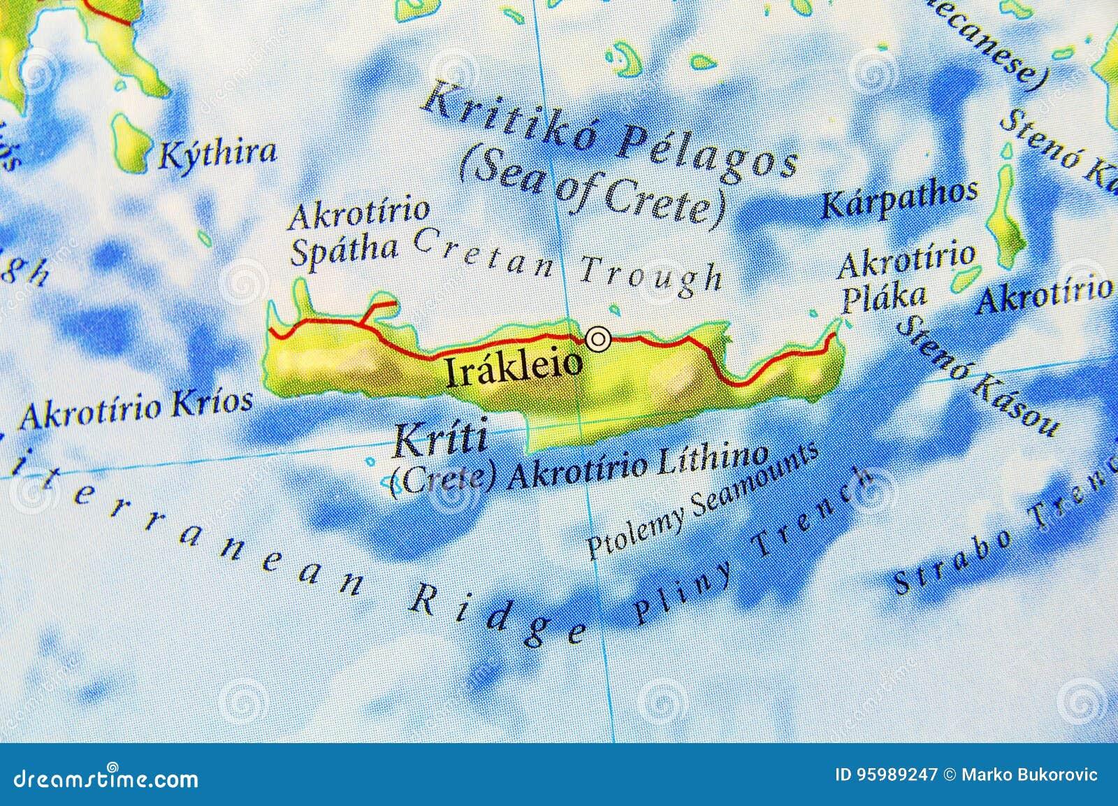 Griechenland Karte Kreta.Geographische Karte Von Europaer Griechenland Insel Kreta