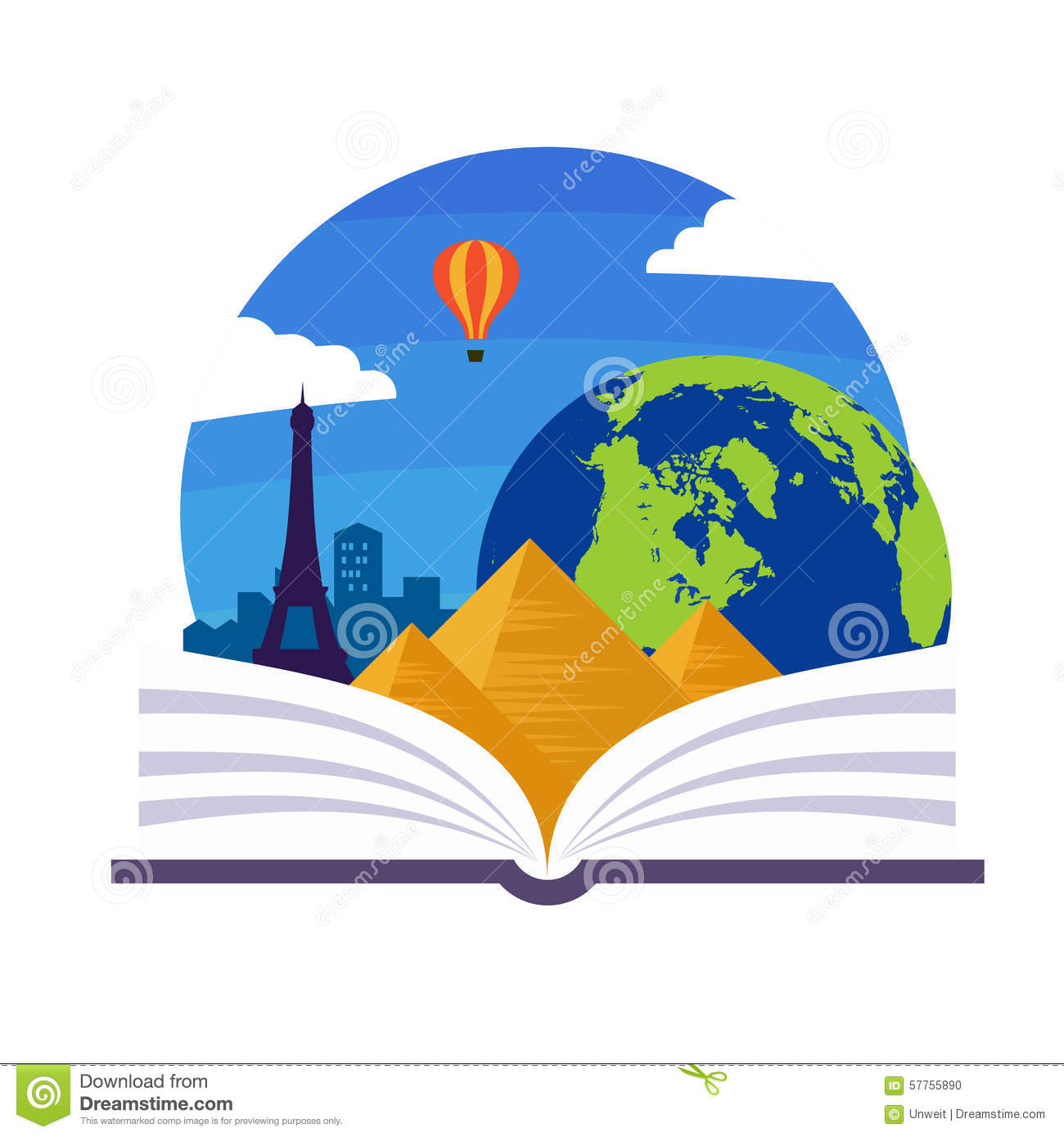 Geography Emblem Stock Vector - Image: 57755890