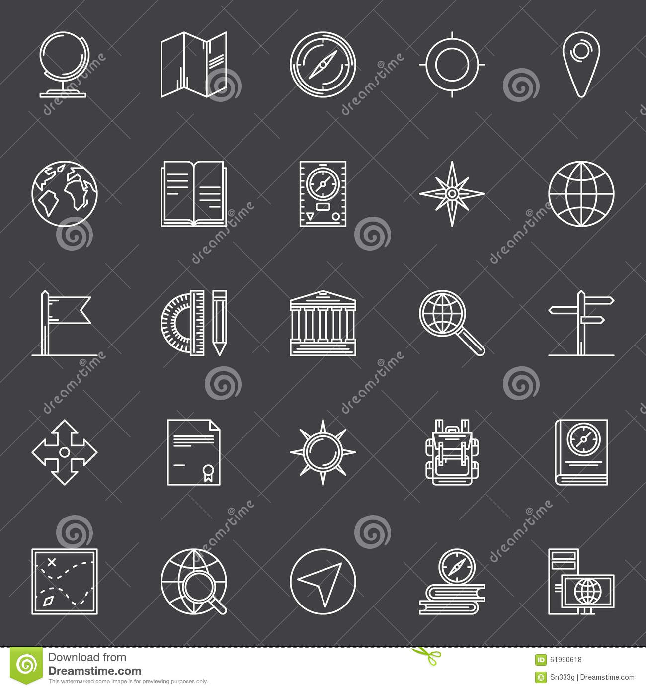 Geography line icons set stock vector illustration of globe geography line icons set biocorpaavc Gallery