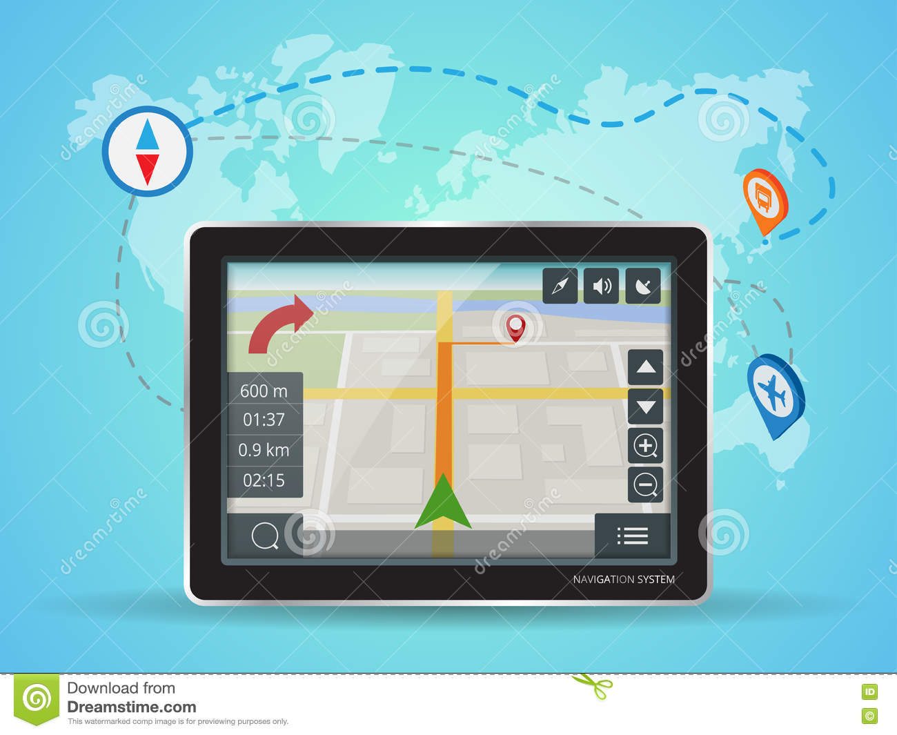 Geolocation gps navigation touch screen tablet world map stock download geolocation gps navigation touch screen tablet world map stock vector illustration of gumiabroncs Image collections