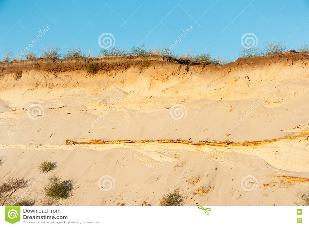 Download Geological cut of sands stock image. Image of outdoor - 77456957