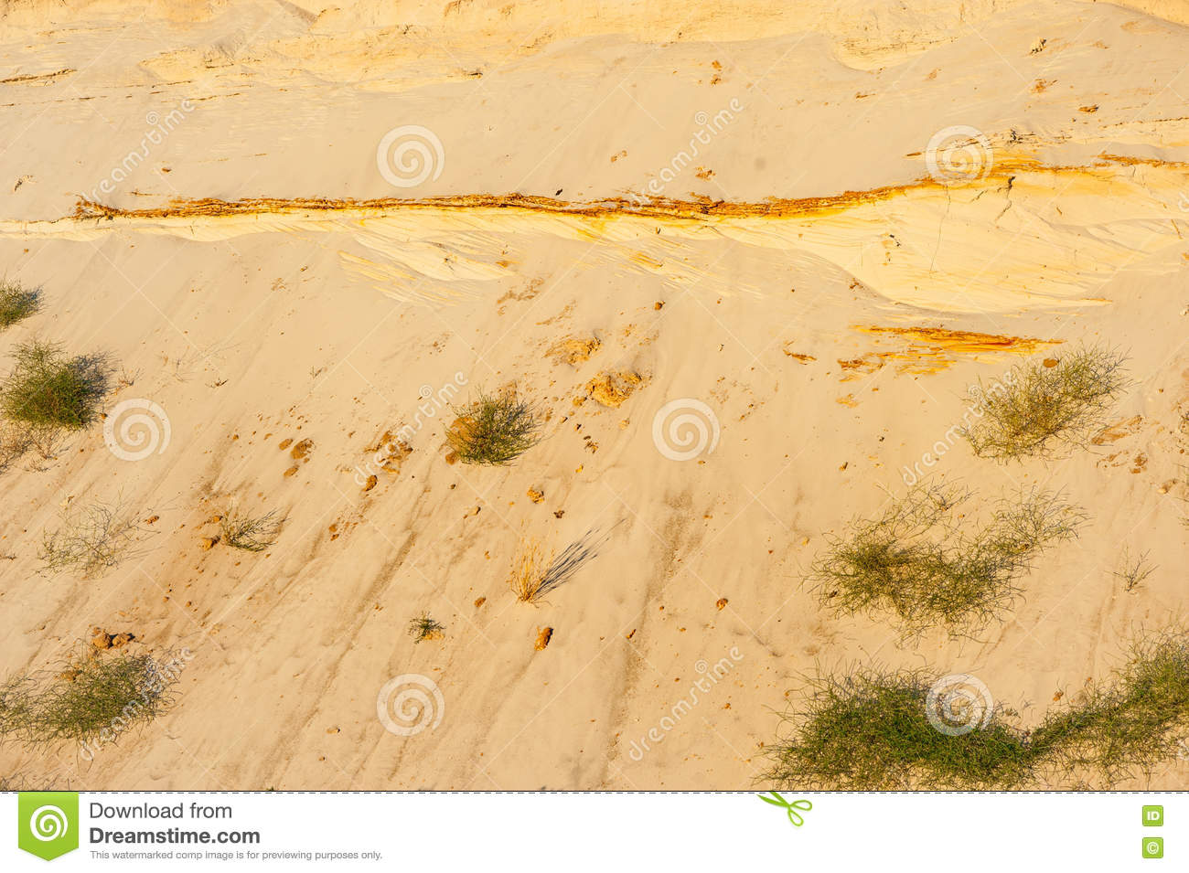 Geological cut of sands stock image image of nobody for Soil and geology