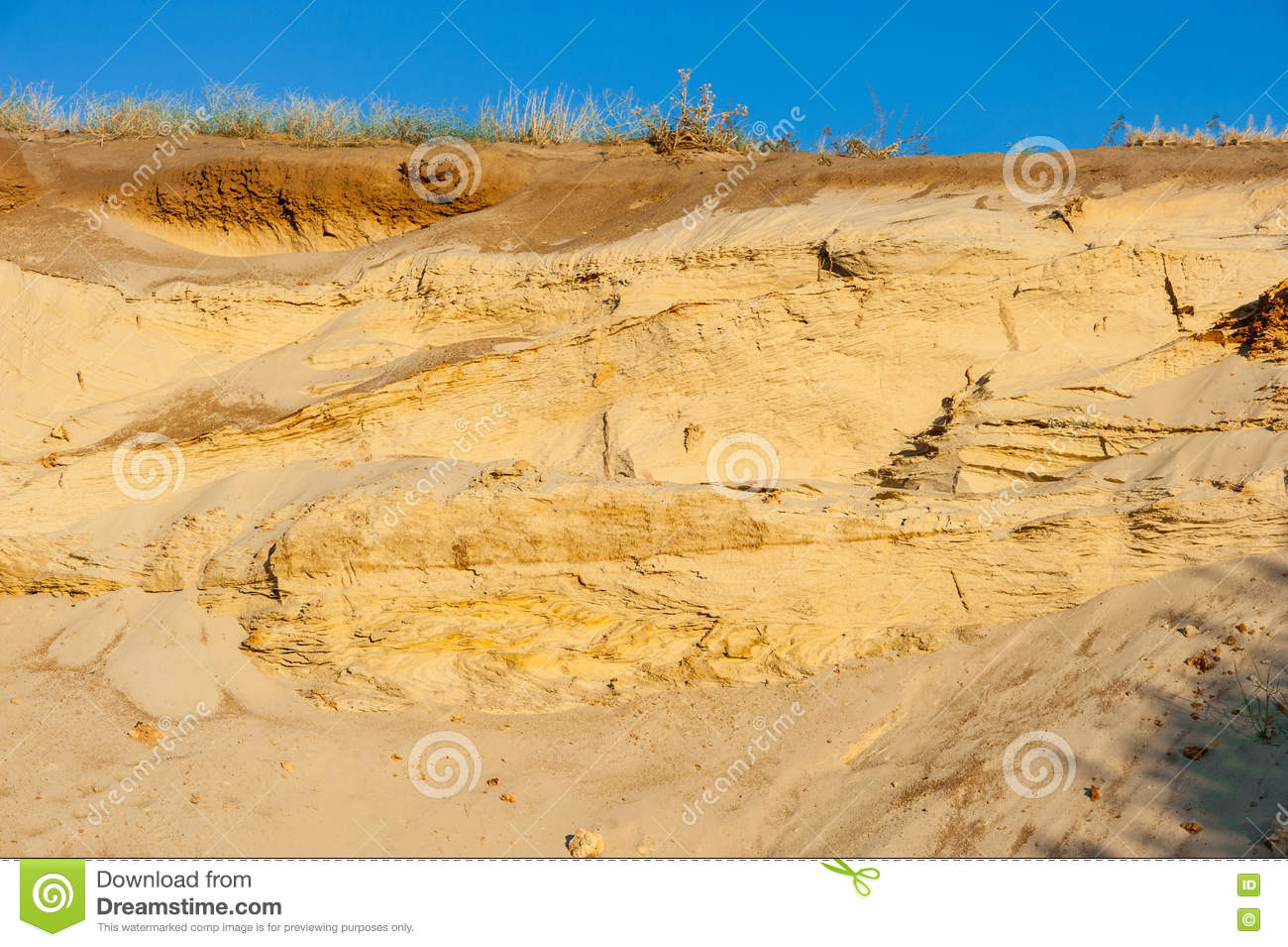 Geological cut of sands stock photo image of pattern for Soil and geology