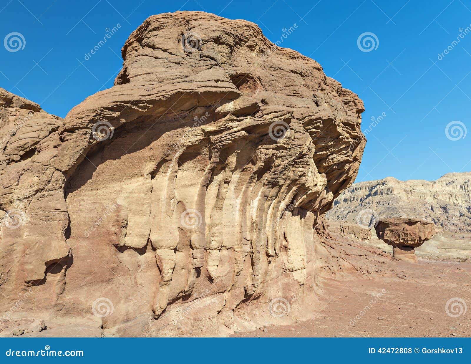 Geologische Bildung in Timna-Park, (Desert's-Pilz)