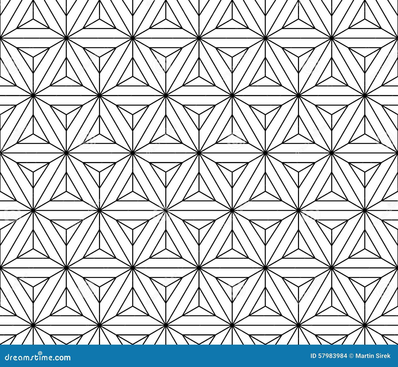 Geometría sagrada del modelo inconsútil blanco y negro