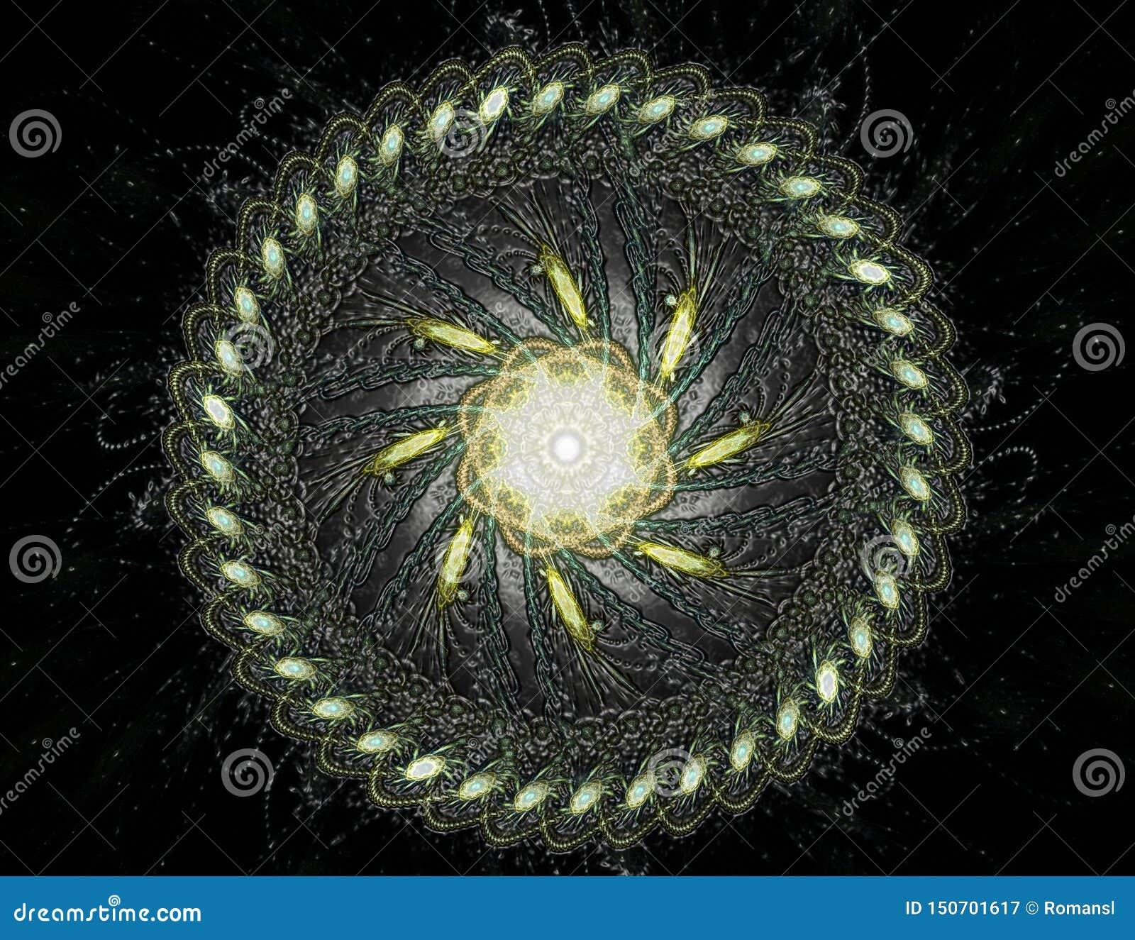 Geometr?a de la serie del espacio Contexto visualmente atractivo hecho de curvas conceptuales de las rejillas y de elementos del