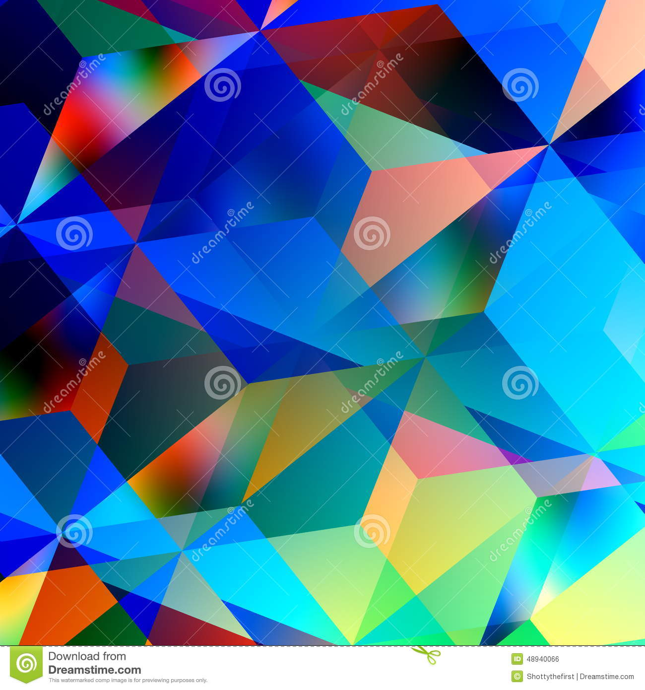 color geometric patterns graphic abstract triangle pattern background mosaic chaotic blue illustration