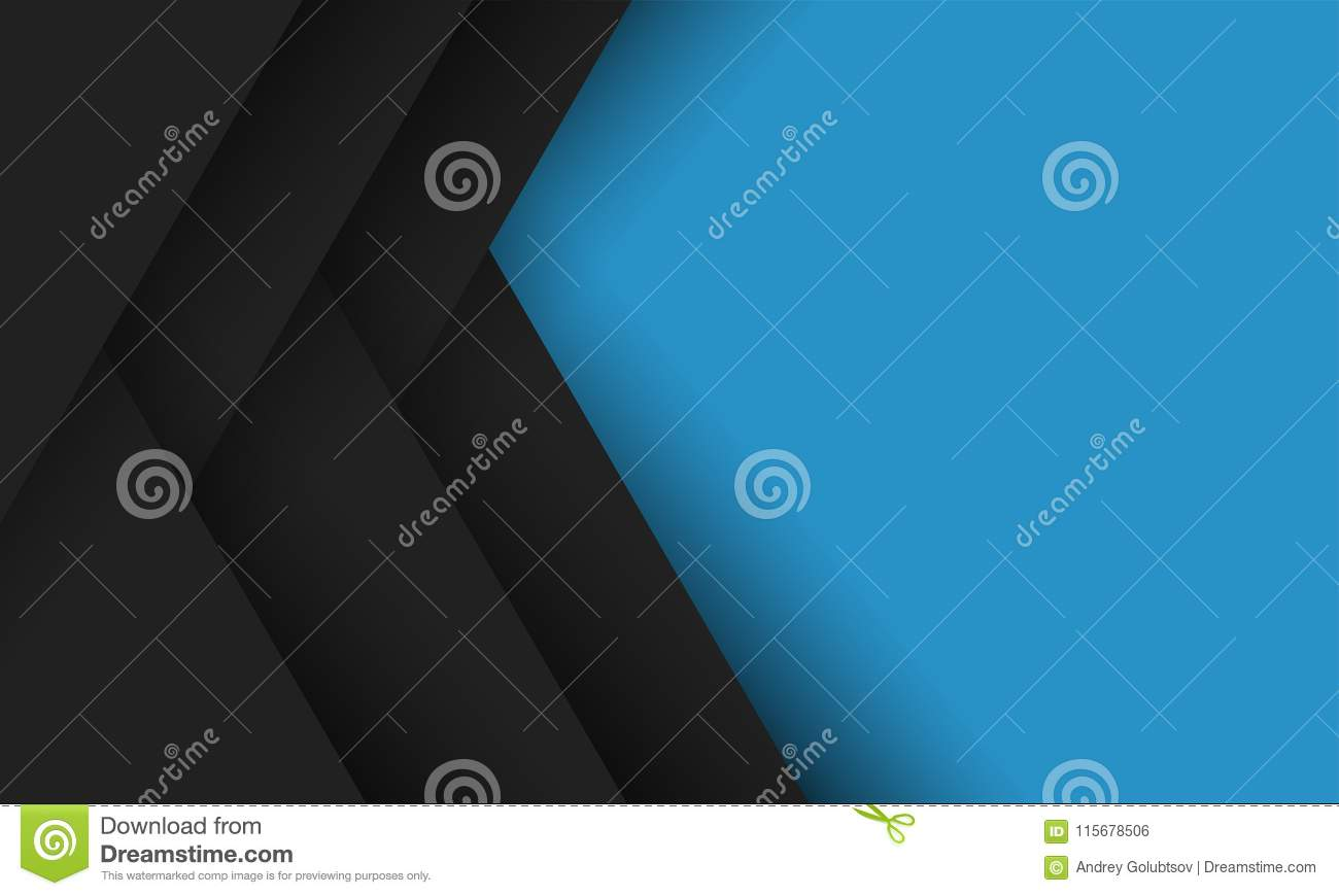 geometric abstract modern vector blue black background stock vector