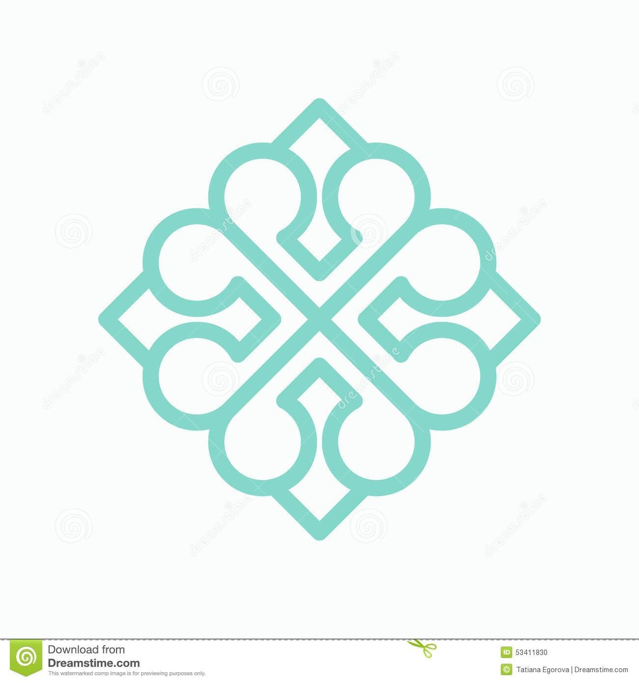 Geometric Arabic Logo Pattern Stock Vector - Image: 53411830