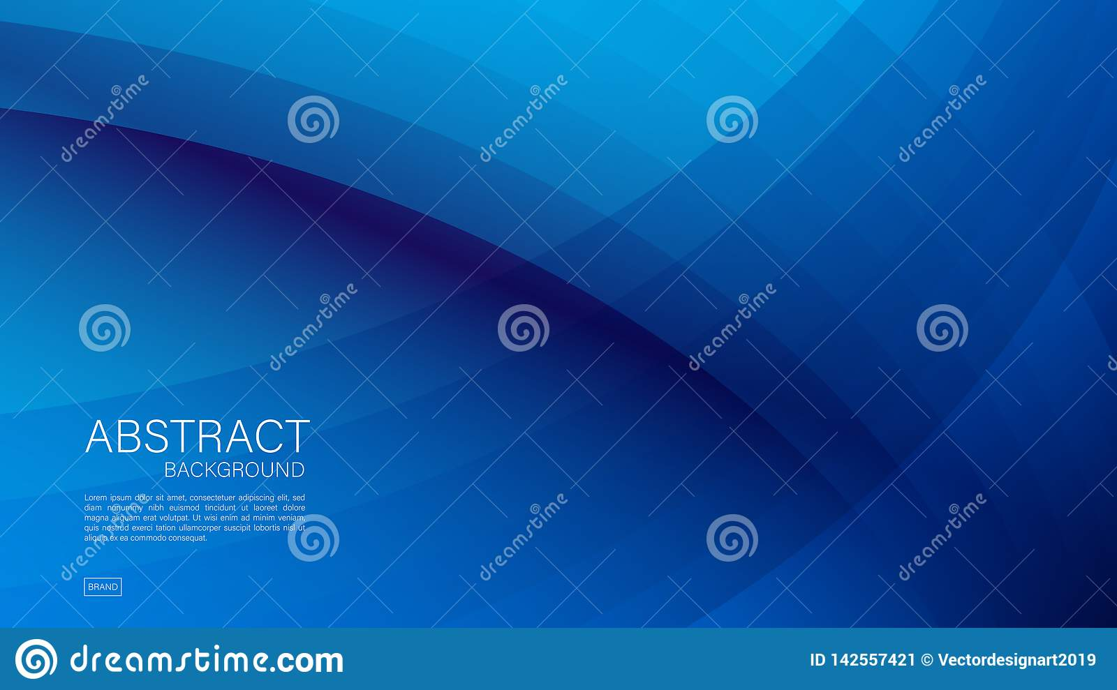 Blue abstract background, wave, Geometric vector, graphic, Minimal Texture, cover design, flyer template, banner, web page