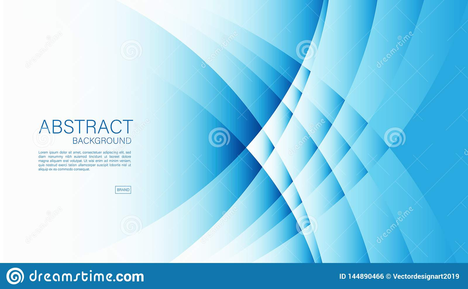 Blue Abstract Background Wave Geometric Vector Graphic