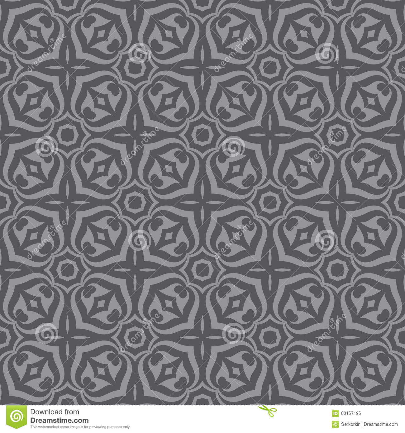 Geometric background seamless vector pattern in gray for Grey patterned wallpaper