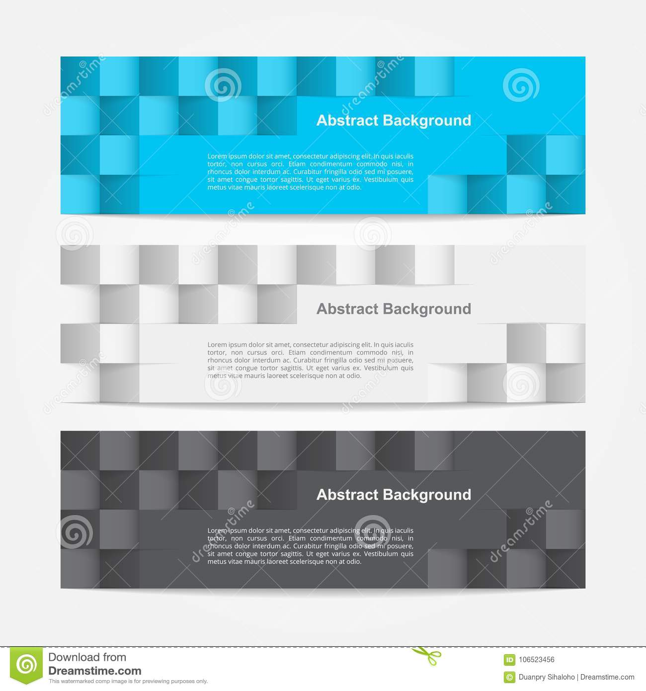Geometric Banner Template Illustrator Stock Vector Illustration Of Layout Collection 106523456