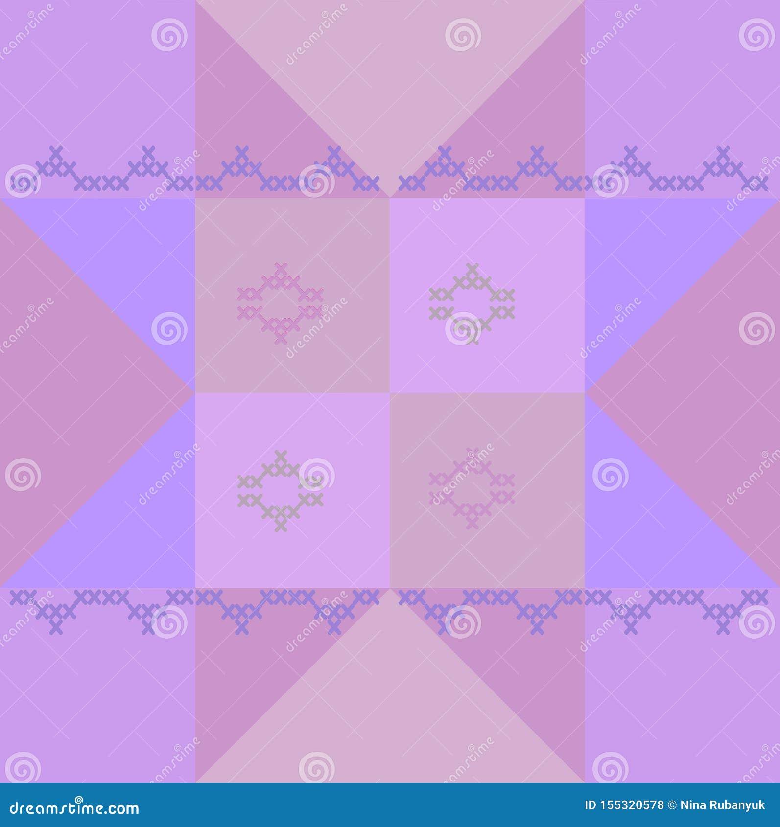 Geometric block pattern for patchwork