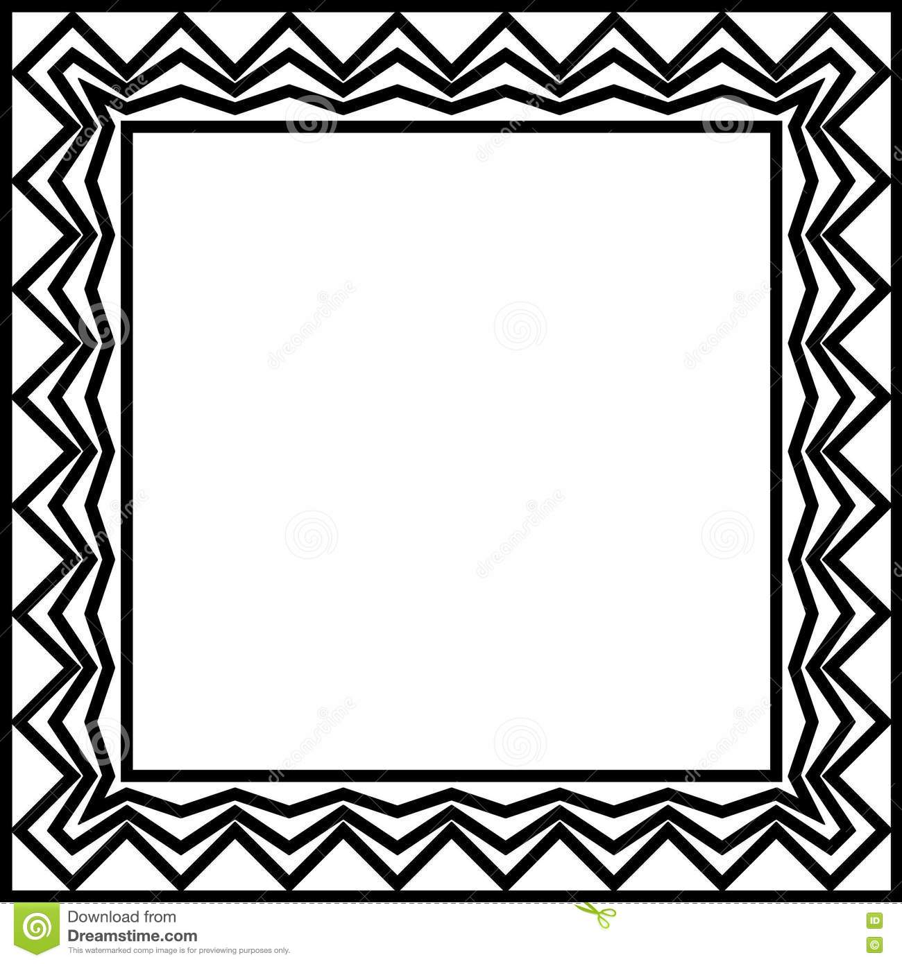geometric border stock photography
