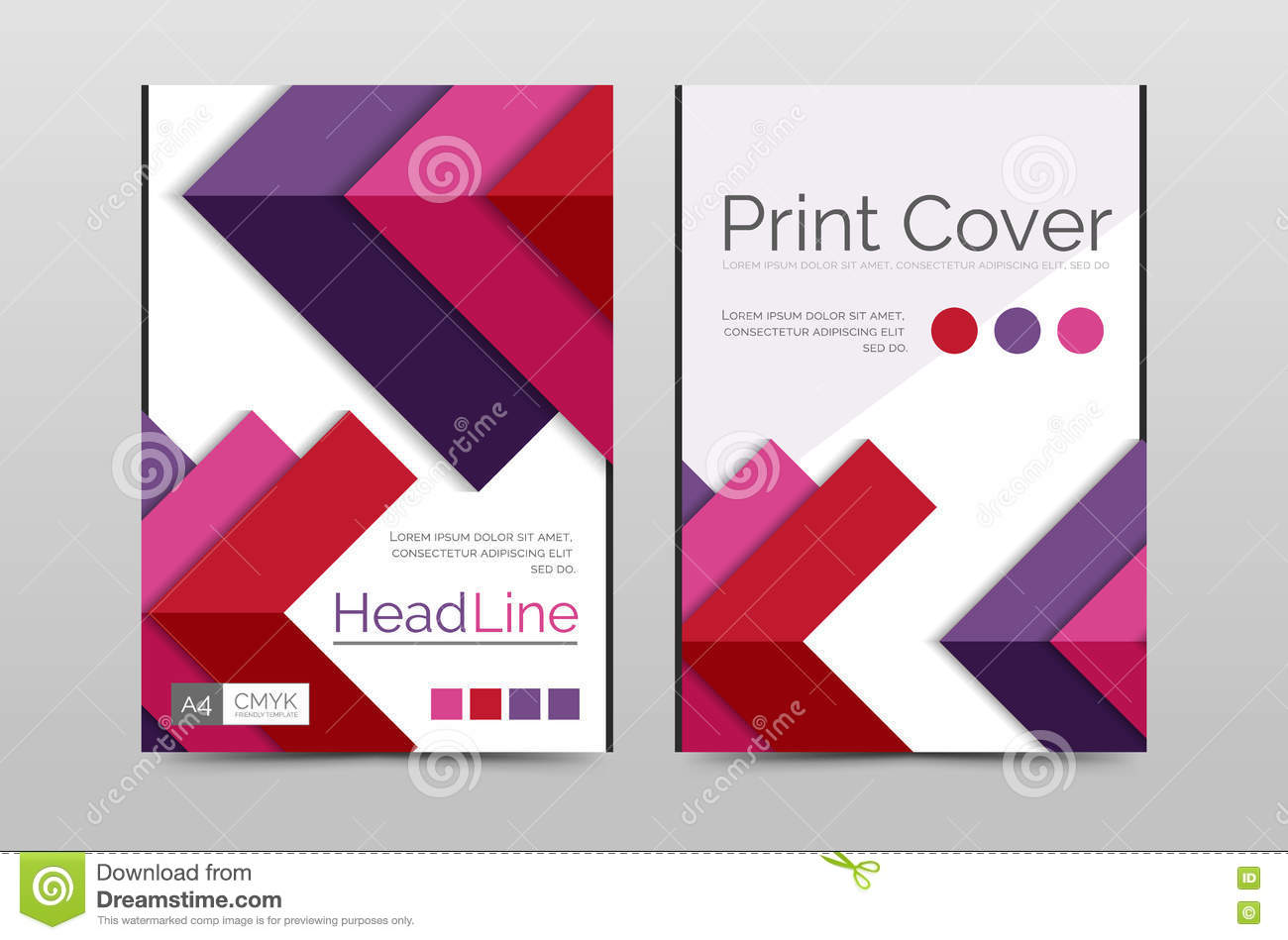 geometric brochure front page stock vector