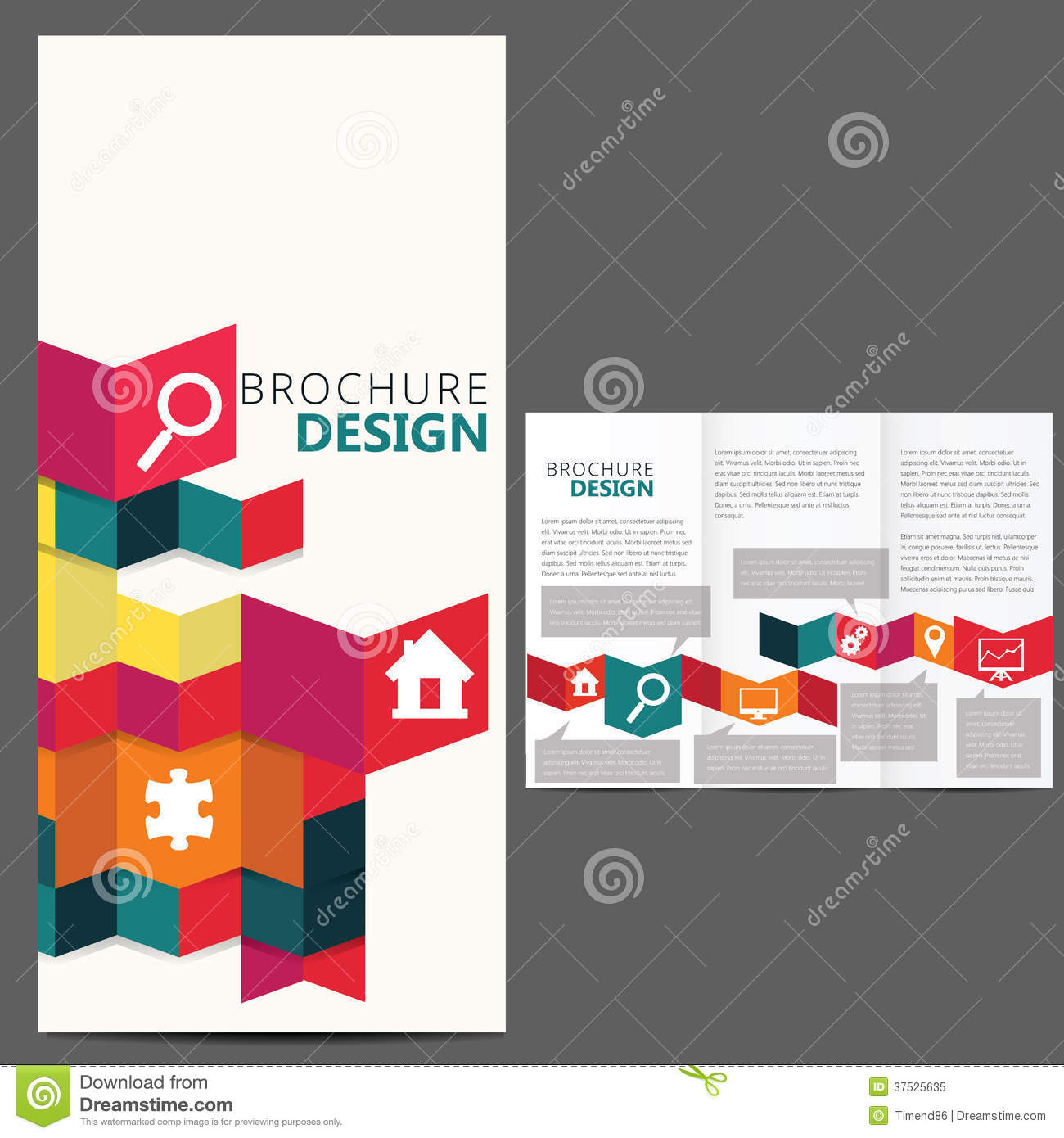 Geometric Brochure Layout Design Royalty Free Stock Photo - Image ...