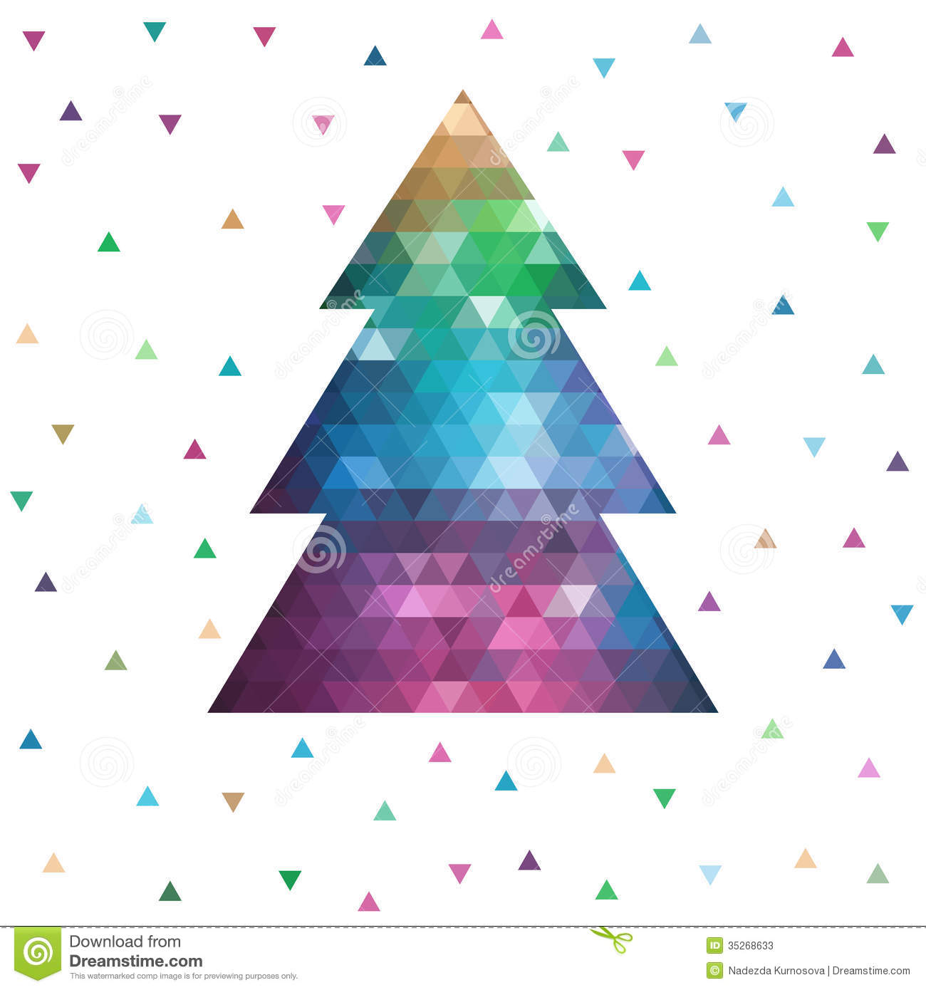 Christmas Decorations 3d Shapes Ks2 : Geometric christmas tree stock photos image