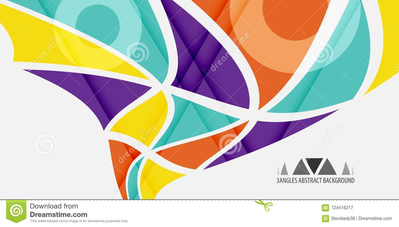 Geometric Colorful Abstract Background Graphics Template