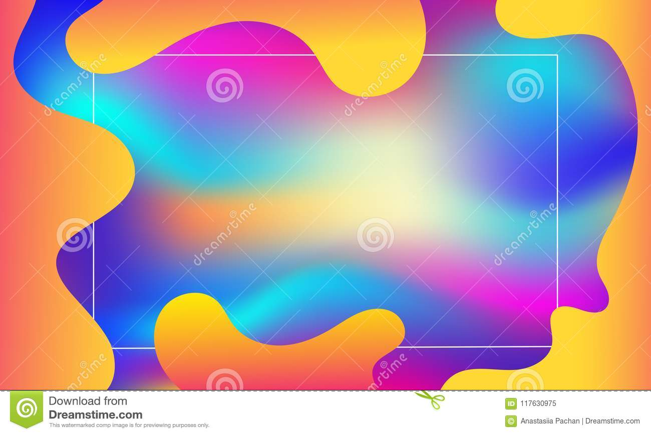 Geometric Cover Gradient Colorful Stripes Composition Cool