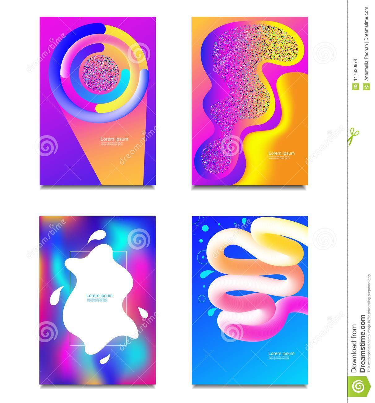 Geometric Covers Set Round Gradient Shapes Composition