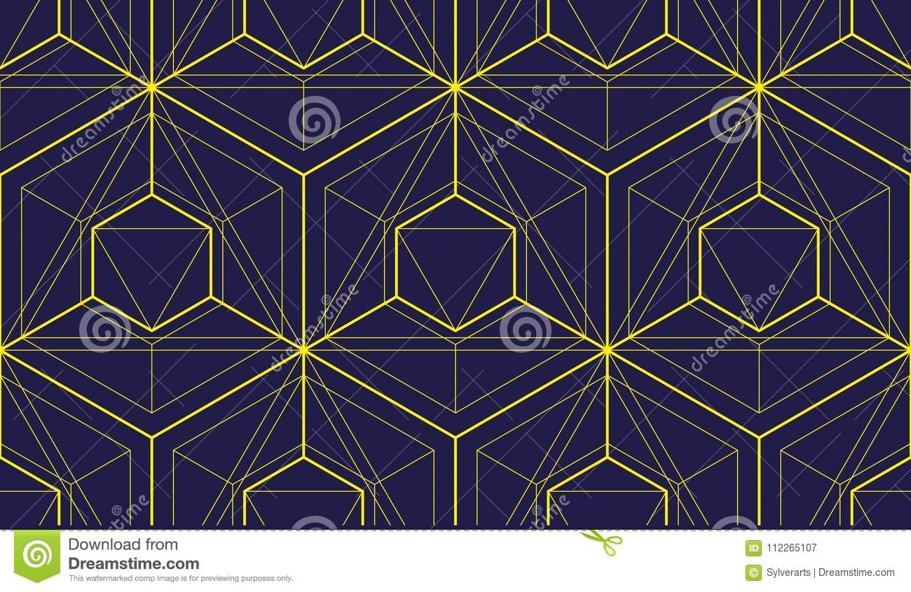 Geometric 3d Lines Abstract Seamless Pattern Vector