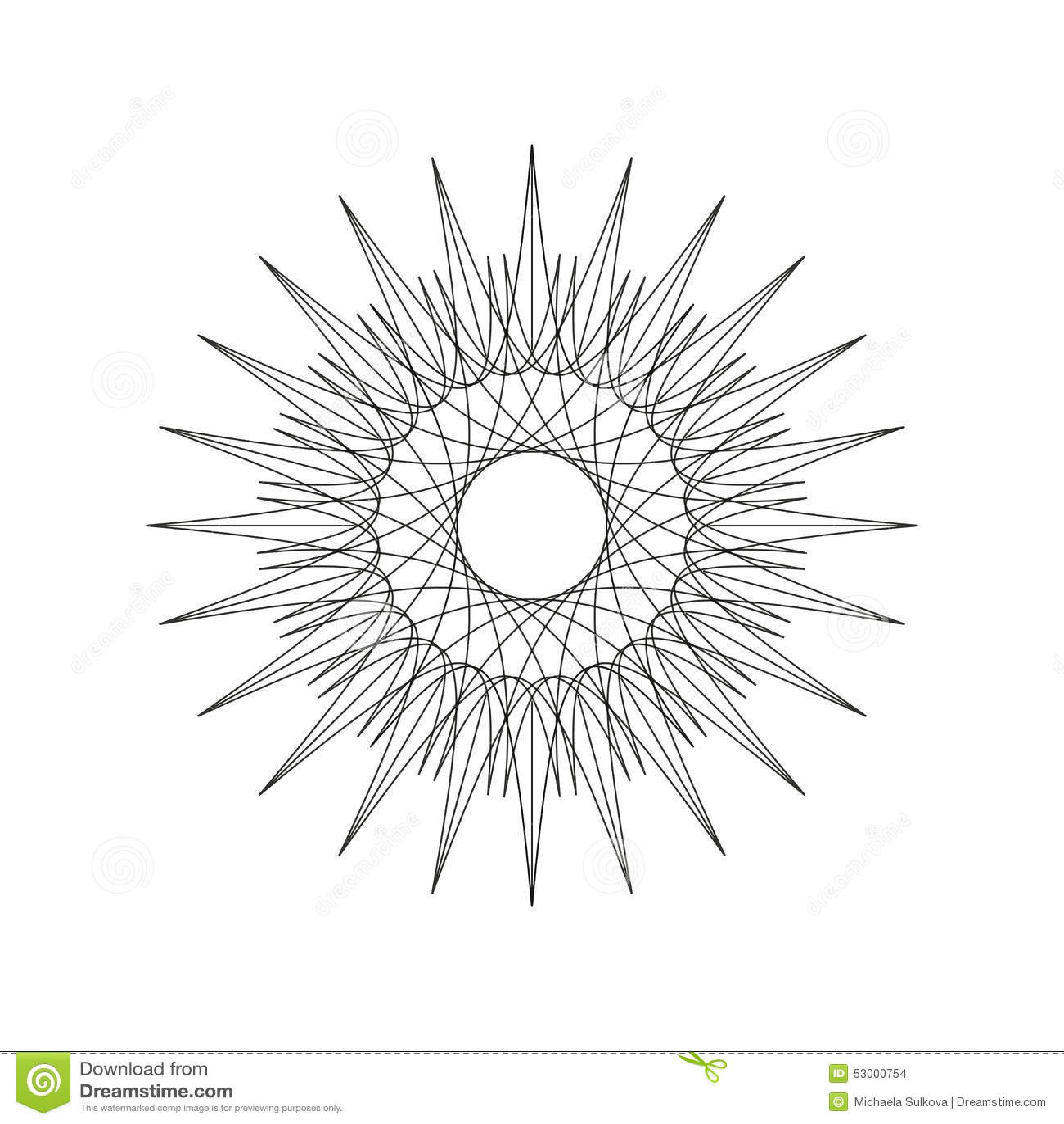 Line Art Design Geometry : Geometric decoration shape ornament mandala line design