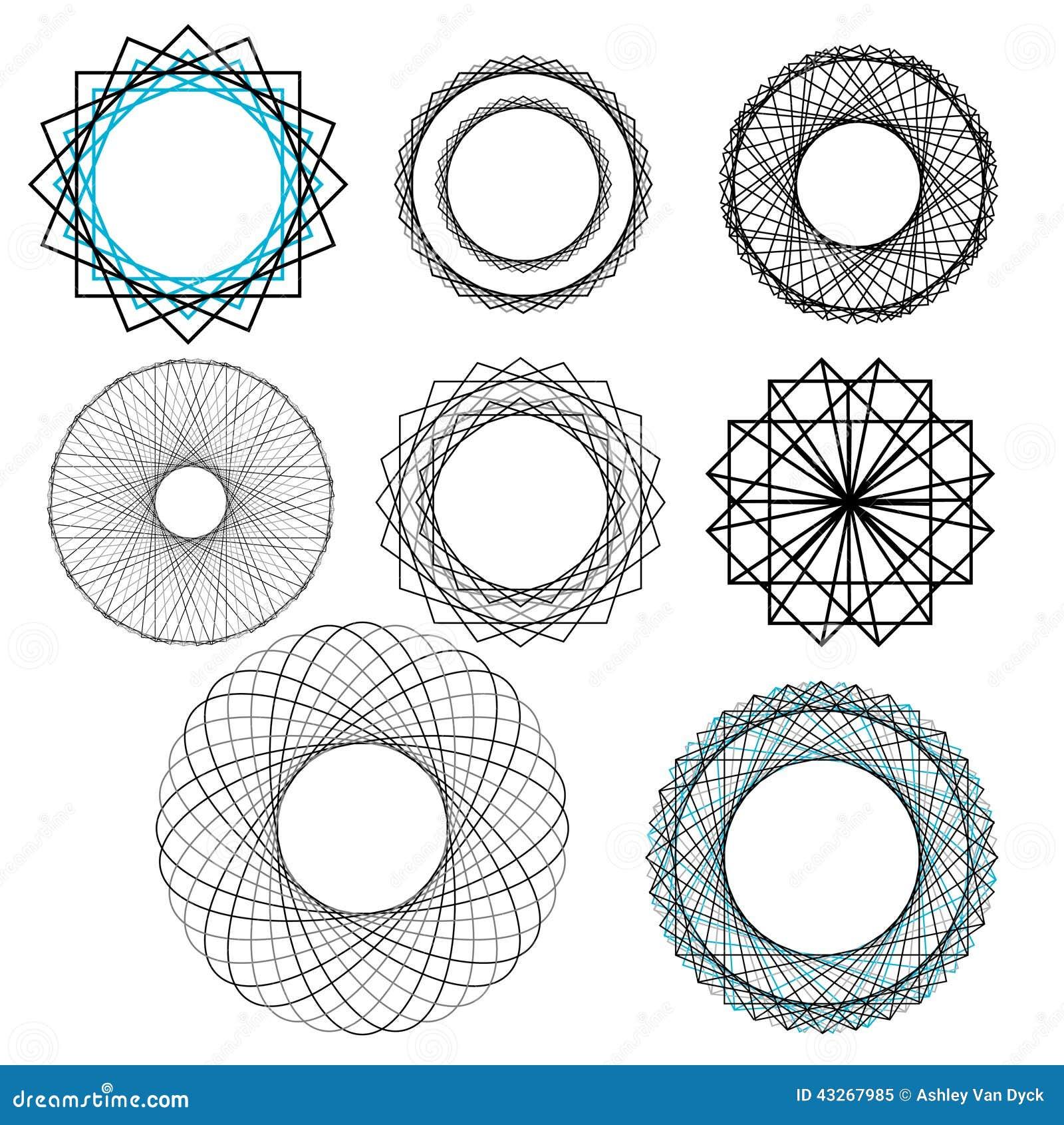 Geometric Decorative Design Elements Stock Vector Image