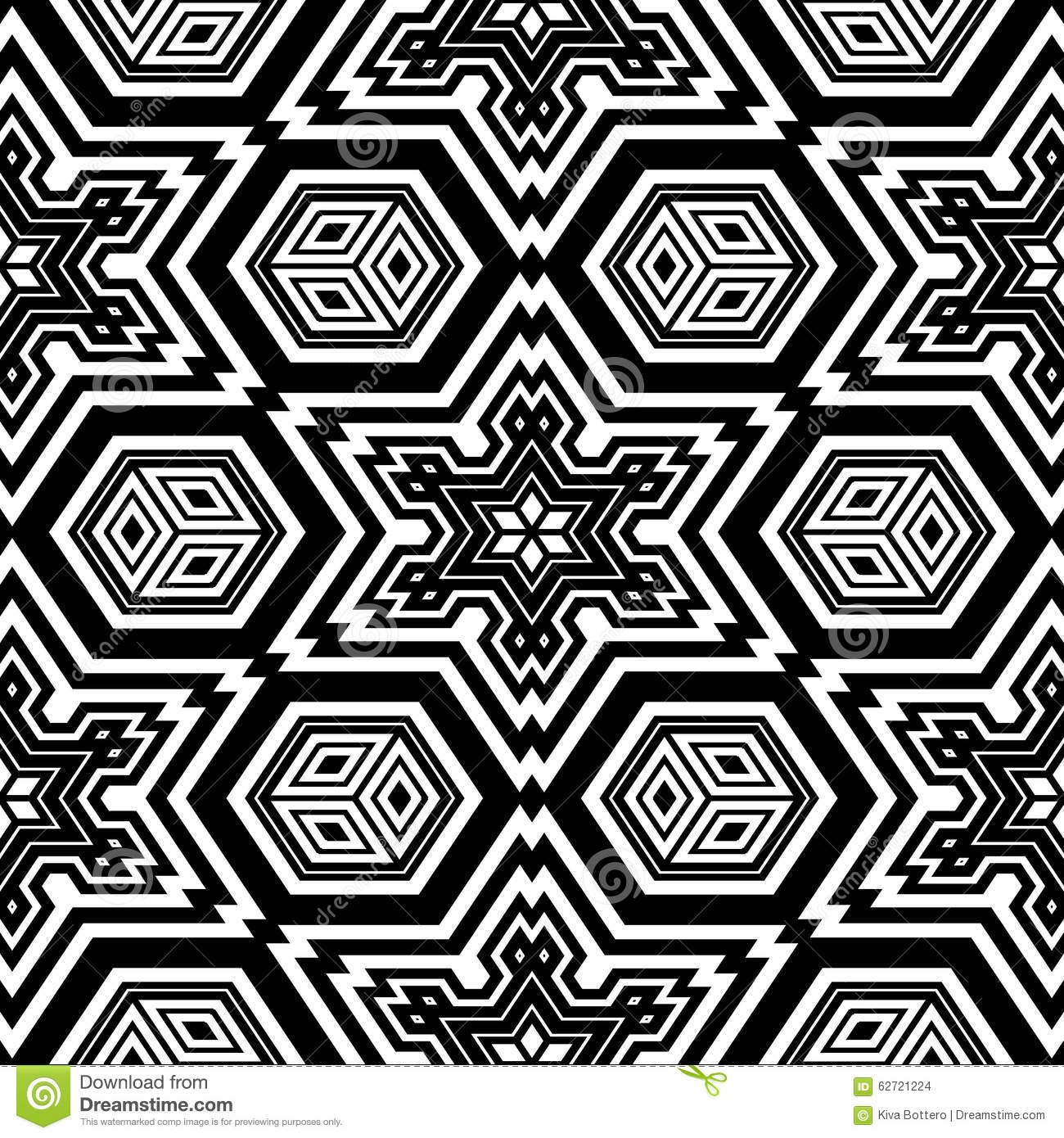 Geometric Design Adult Coloring Page Stock Illustration ...