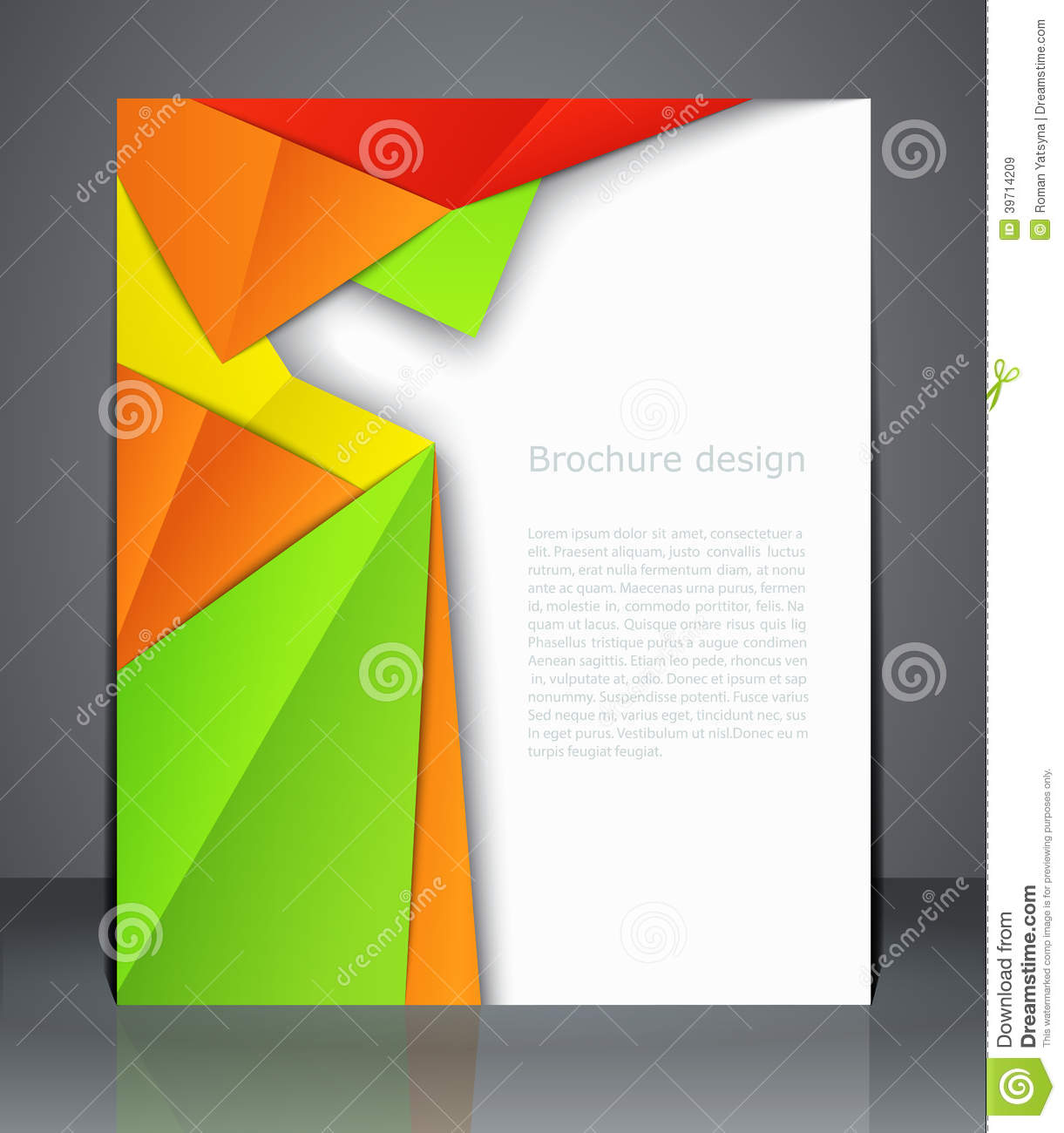 ... Vector: Geometric design brochures magazine cover, flyer, or poster