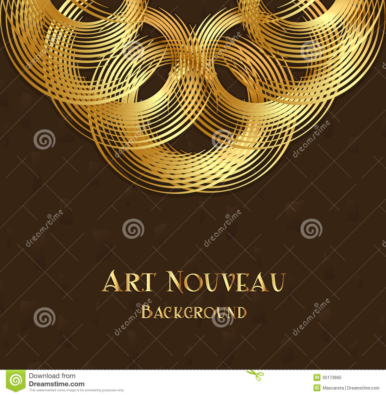 Geometric Design Element In Art Nouveau Style Royalty Free ...