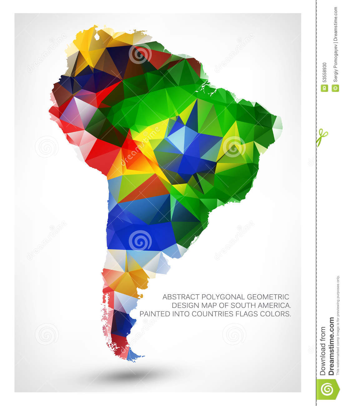 Geometric design map of south america stock photo image of ecuador geometric design map of south america gumiabroncs Gallery